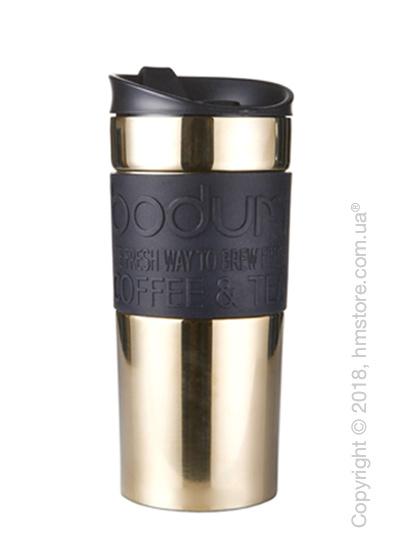 Термокружка Bodum Travel Mug Gold 350 мл, Black