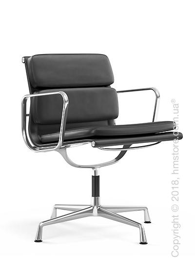 Кресло Vitra Soft Pad Chair EA 207, Leather Asphalt Dark Grey