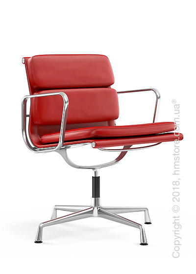 Кресло Vitra Soft Pad Chair EA 207, Leather Red Poppy Red