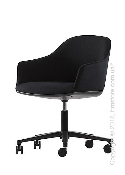 Кресло Vitra Softshell Chair five-star base, Moss Graphite Black