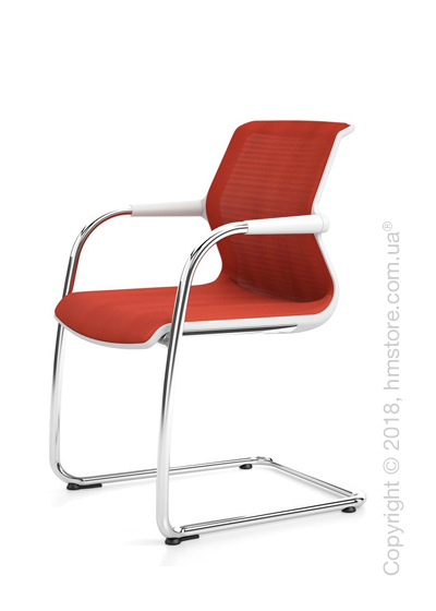 Кресло Vitra Unix Chair Cantilever soft grey frame, Diamond Mesh Brick