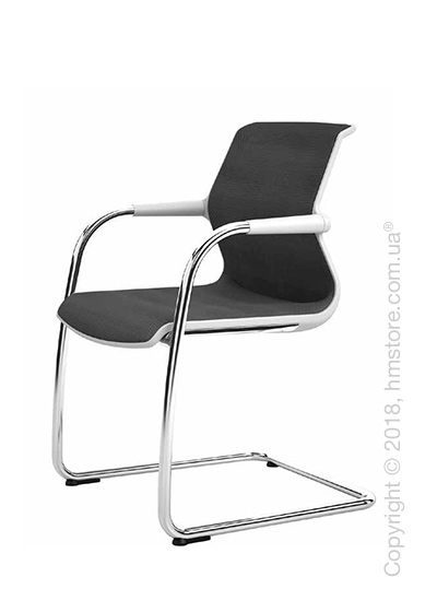 Кресло Vitra Unix Chair Cantilever soft grey frame, Diamond Mesh Nero