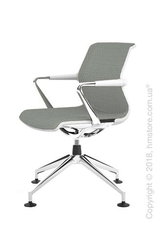 Кресло Vitra Unix Chair four-star base soft grey frame, Diamond Mesh Ice Grey