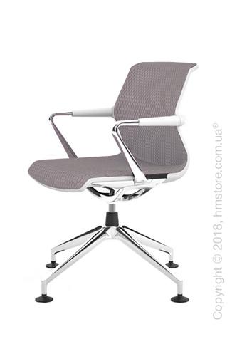 Кресло Vitra Unix Chair four-star base soft grey frame, Diamond Mesh Mauve Grey
