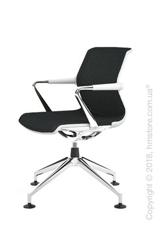 Кресло Vitra Unix Chair four-star base soft grey frame, Diamond Mesh Asphalt