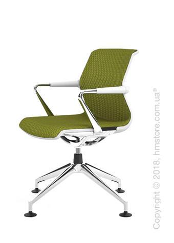 Кресло Vitra Unix Chair four-star base soft grey frame, Diamond Mesh Avocado