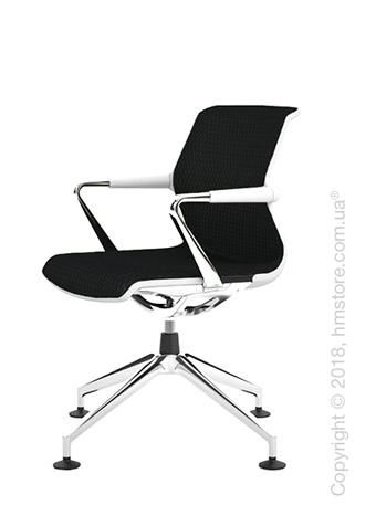 Кресло Vitra Unix Chair four-star base soft grey frame, Diamond Mesh Nero