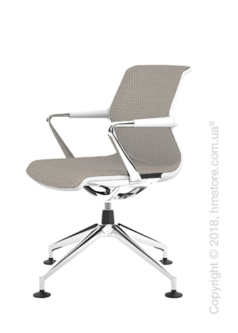 Кресло Vitra Unix Chair four-star base soft grey frame, Diamond Mesh Soft Grey