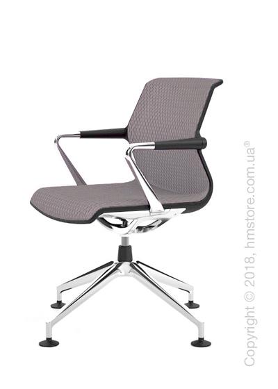 Кресло Vitra Unix Chair four-star base dark frame, Diamond Mesh Mauve Grey