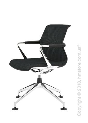 Кресло Vitra Unix Chair four-star base dark frame, Diamond Mesh Asphalt