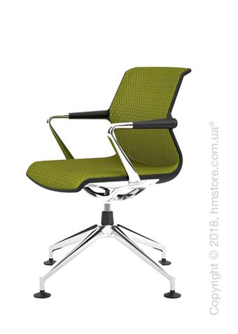 Кресло Vitra Unix Chair four-star base dark frame, Diamond Mesh Avocado