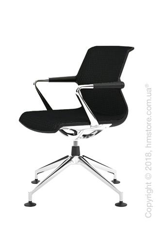 Кресло Vitra Unix Chair four-star base dark frame, Diamond Mesh Nero