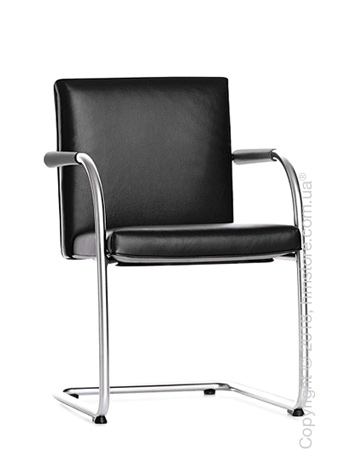 Кресло Vitra Visasoft Cantilever Conference Chair, Leather Nero