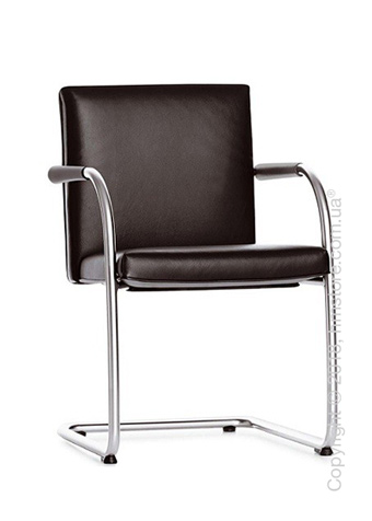 Кресло Vitra Visasoft Cantilever Conference Chair, Leather Chocolate