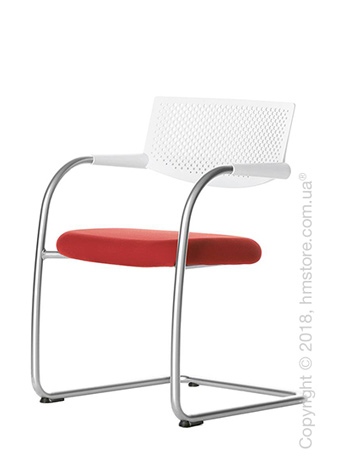 Кресло Vitra Visavis 2 Chair soft light back, Plano Poppy Red