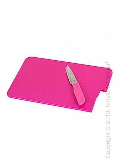 Доска с ножом Joseph Joseph Slice & Store, Розовая