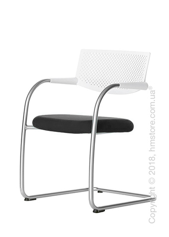 Кресло Vitra Visavis 2 Chair soft light back, Plano Nero