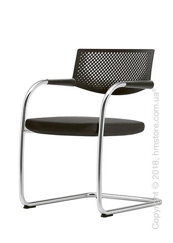 Кресло Vitra Visavis 2 Chair basic dark back, Plano Nero