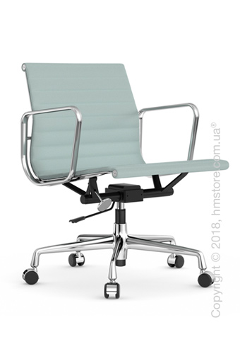 Кресло Vitra Aluminium Chair EA 117, Fabric Ice Blue Ivory