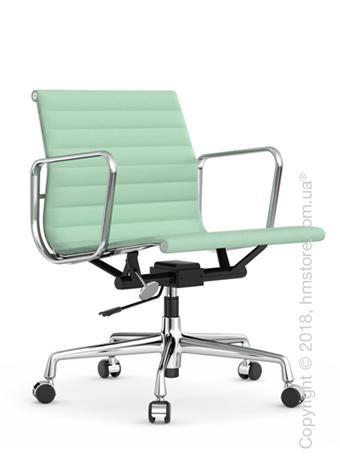 Кресло Vitra Aluminium Chair EA 117, Fabric Mint Ivory