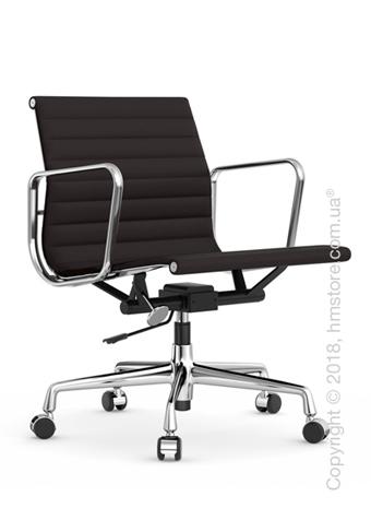 Кресло Vitra Aluminium Chair EA 117, Fabric Nero Moor Brown