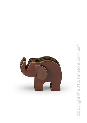 Подставка для ручек Graf von Faber-Castell, Elephant Made From Natural Leather, Dark Brown Small
