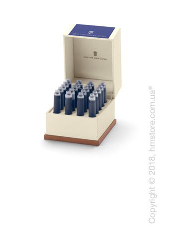 Набор сменных картриджей Graf von Faber-Castell для перьевой ручки, 20 предметов, Cobalt Blue