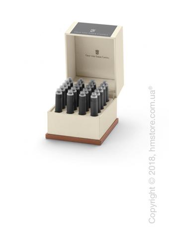 Набор сменных картриджей Graf von Faber-Castell для перьевой ручки, 20 предметов, Stone Grey