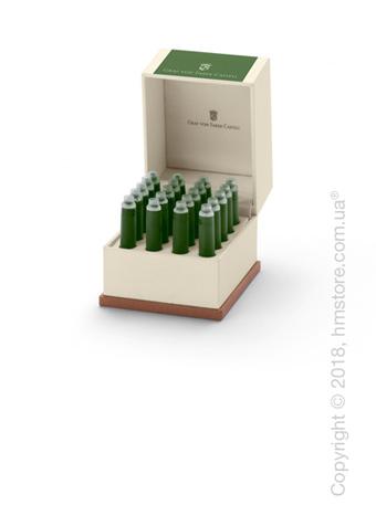 Набор сменных картриджей Graf von Faber-Castell для перьевой ручки, 20 предметов, Moss Green