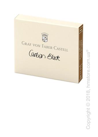Набор сменных картриджей Graf von Faber-Castell для перьевой ручки, 6 предметов, Carbon Black