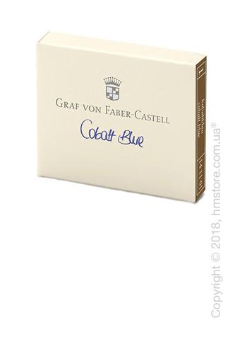 Набор сменных картриджей Graf von Faber-Castell для перьевой ручки, 6 предметов, Cobalt Blue
