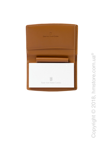 Блокнот Graf von Faber-Castell With Pen Holder, Cognac Grained Leather