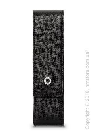 Кожаный пенал для ручек Graf von Faber-Castell Case With Magnetic Catch For 2 Pen Epsom,Black Saffiano