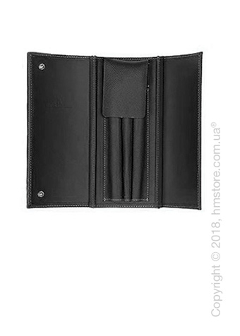 Кожаный пенал Graf von Faber-Castell Case For 3 Pens Epsom, Black Grained Leather