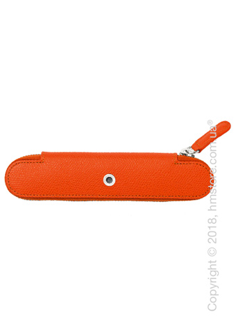 Кожаный пенал для ручки Graf von Faber-Castell Standard Case For 1 Pen With Zipper Epsom, Burned Orange