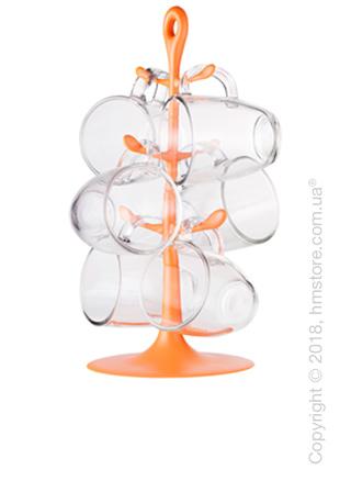 Набор чашек на подставке Bodum Copenhagen 310 мл на 6 персон, Orange