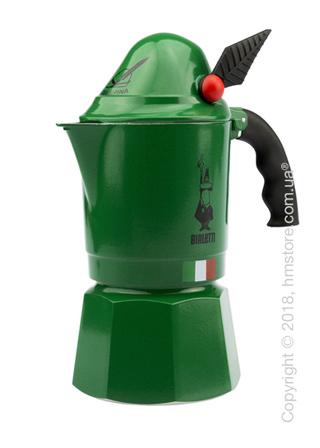 Кофеварка гейзерная Bialetti Break Alpina на 3 чашки, Green