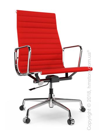 Кресло Vitra Aluminium Chair EA 119, Fabric Red Poppy Red