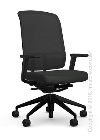 Кресло Vitra AM Chair, black backrest, Plano Nero