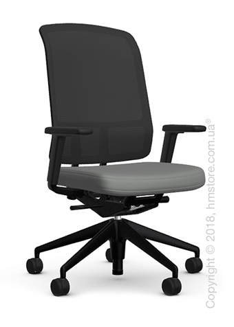 Кресло Vitra AM Chair, black backrest, Plano Sierra Grey. Купить