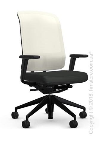 Кресло Vitra AM Chair, white backrest, Plano Nero