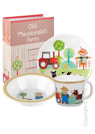 Набор детской посуды Churchill Old Macdonald Melamine Set, 3 предмета