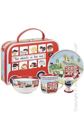 Набор детской посуды Churchill Wheels on Bus Breakfast Set, 4 предмета