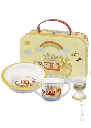 Набор детской посуды Churchill Noah's Ark Porringer and Egg Cup Set, 3 предмета