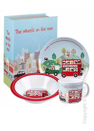 Набор детской посуды Churchill Wheels on Bus Melamine Set, 3 предмета