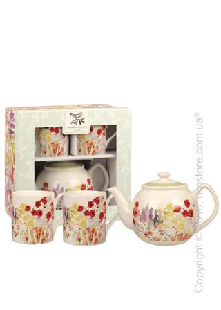 Набор чайник заварочный с чашками Churchill Painted Garden Tea for Two, 3 предмета