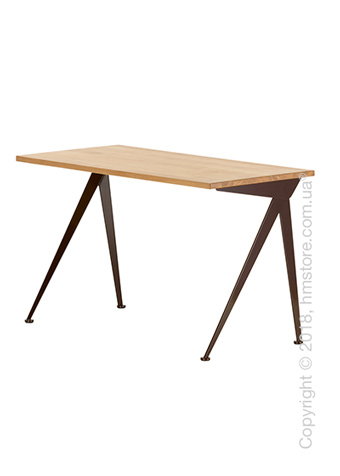 Стол Vitra Compas Direction, Natural Oak and Chocolate