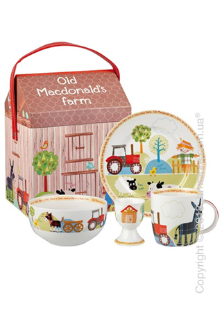 Набор детской посуды Churchill Old MacDonald's Farm Breakfast Set, 4 предмета