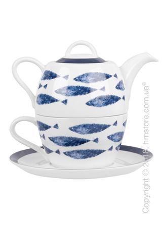 Набор чайник заварочный с чашкой Churchill Sieni Fishie Tea for One, 3 предмета