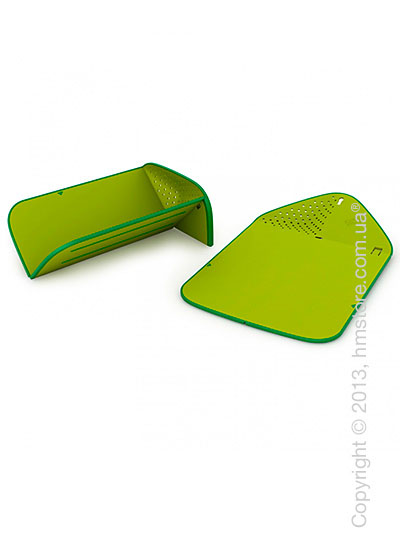 Разделочная доска Joseph Joseph Rinse & Chop Plus, Зеленая